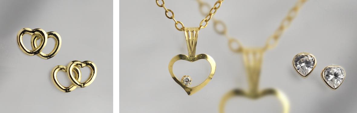 זהב 9K לבבות